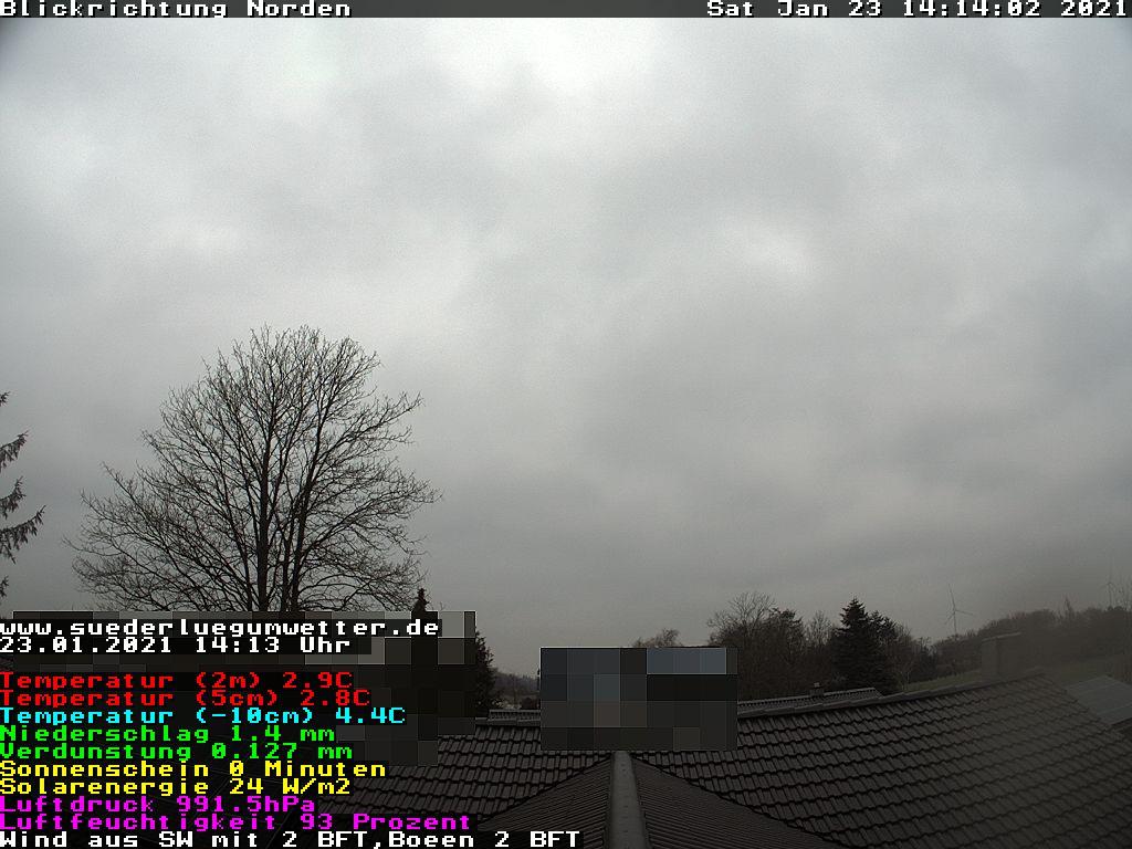 """von 7 bis 22:00 Uhr, alle 30 sec ein neues Livebild aus Süderlügum. Leihgabe der HP """"www.suederluegumwetter.de"""""""